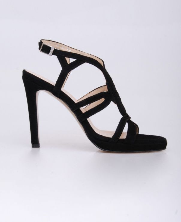 Czarne sandały na szpilce 8638-012
