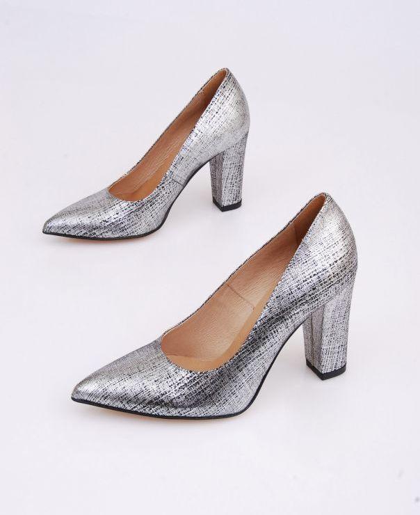 6034 - srebrno-czarna nieregularna kratka