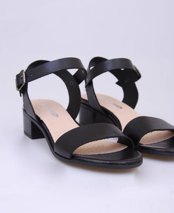 Czarne sandały sandały 8460-721