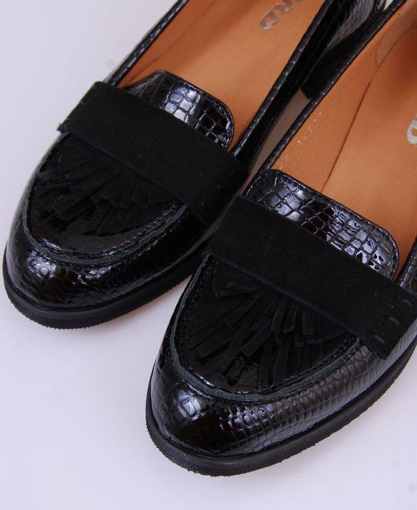 Czarne mokasyny 6120-541-012