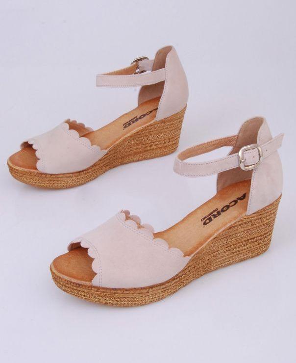 Sandały na koturnie 8713-460